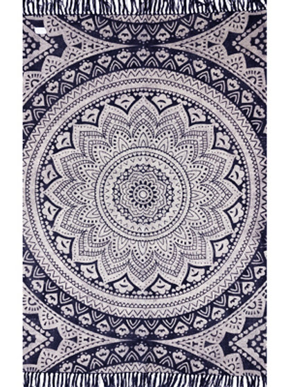 Rug - 3'x5'   Blue/white pattern    #4500
