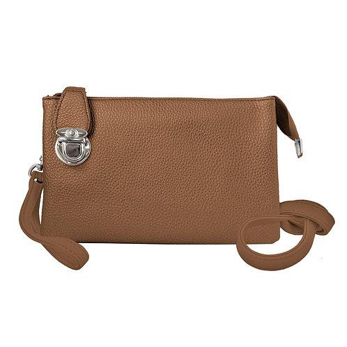 Camel crossbody bag