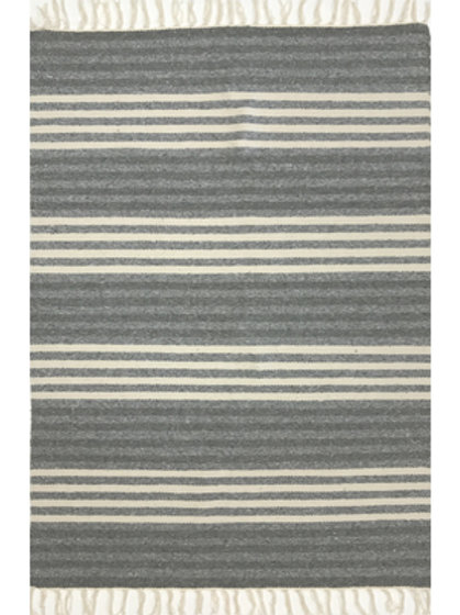 Rug - 3'x5'  Dark Grey/off-white  #4020