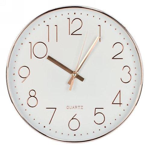 Clock - copper color trim