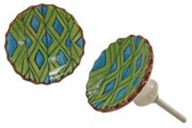 Drawerknob - green/blue
