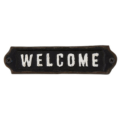 """WELCOME"" sign"