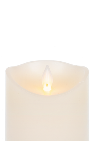 Wax LED IVORY Pillar candle - small