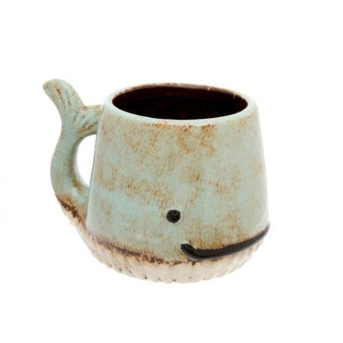 Mug - Whale, Aqua