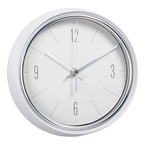 "Clock -9"" dia. White."