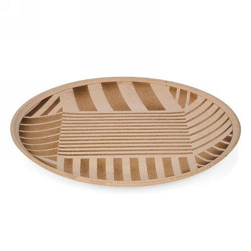 Platter with stripe motif