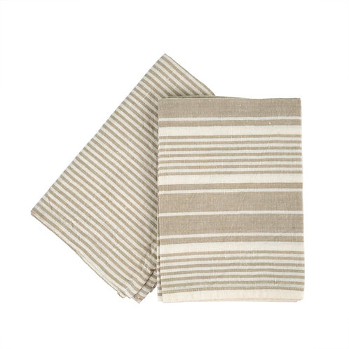 French Linen tea towels - taupe (set of 2)