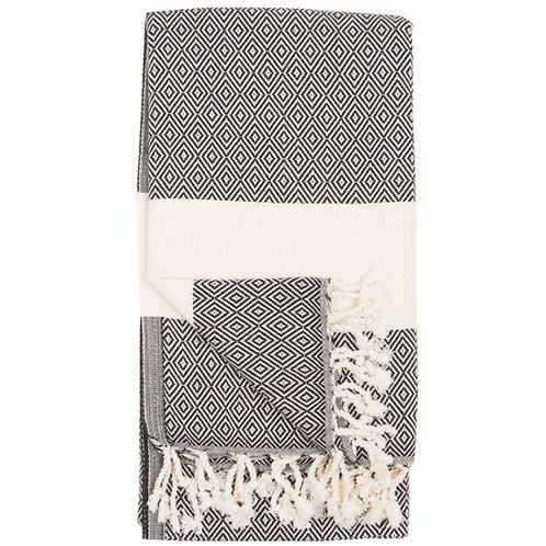 Turkish Towel - Diamond - Carbon