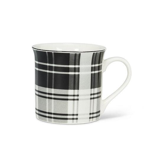 Mug - Black/white plaid