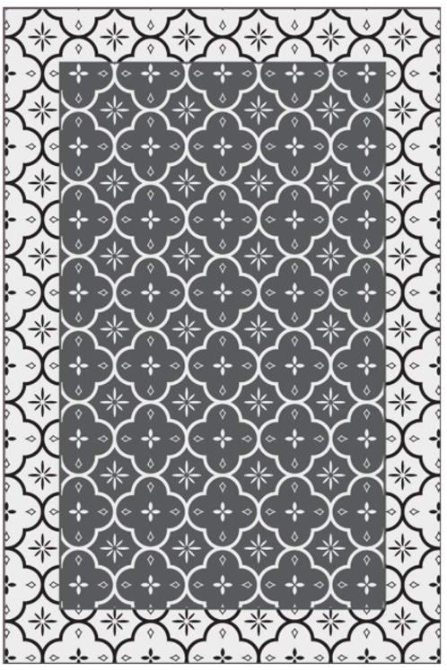 Vinyl floor mat  4.5'x6.5'