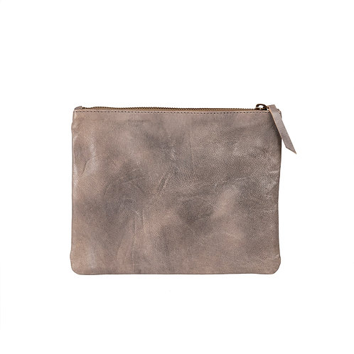 Leather Pouch - Stone