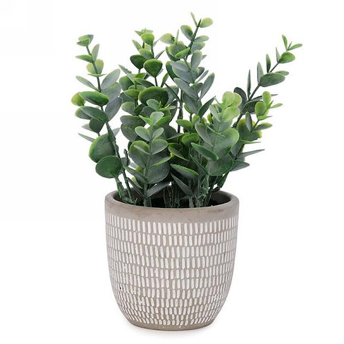 Artificial Plant in cement pot
