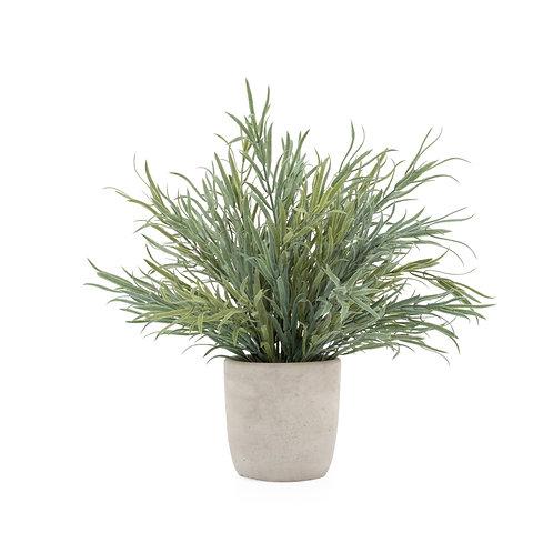 Artificial potted lavender plant