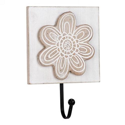 Hook - cream colored, flower