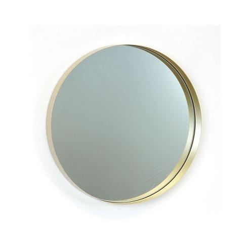 "Gold metal mirror  12""dia"
