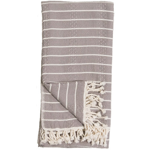 Turkish Towel - Bamboo Striped - Slate