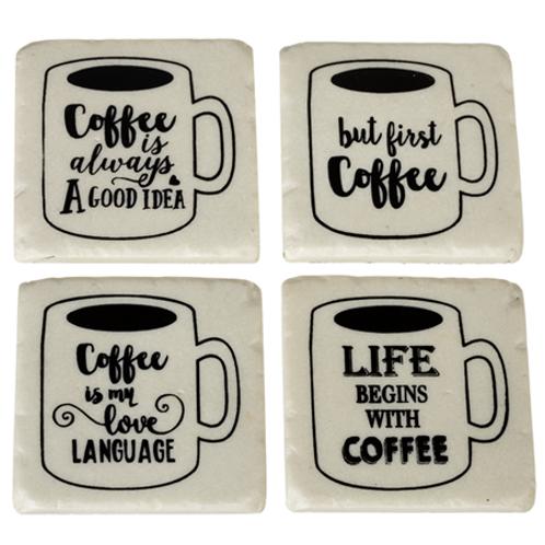 "Coaster set (4) ""Coffee..."""