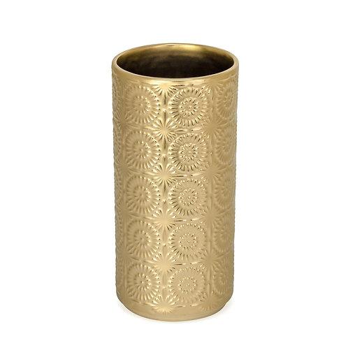 Vase - 'Clara', emb. gold, ceramic