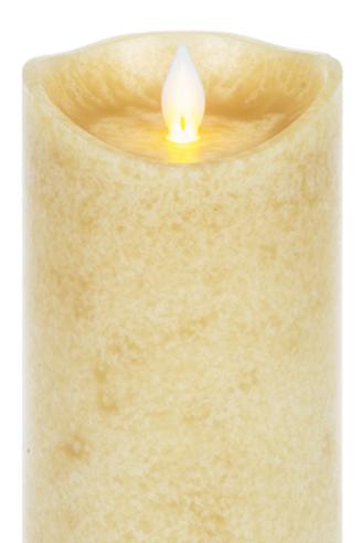 Wax LED Mottled Pillar candle - large