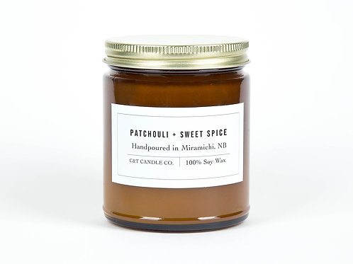 Patchouli & Sweet Spice candle