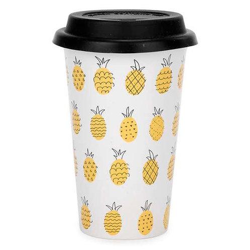 Travel mug - pineapple motif