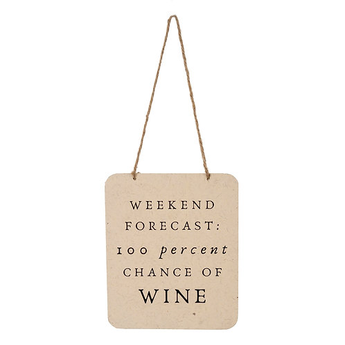 Weekend Forecast... sign