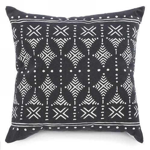 "Pillow - blue/grey print  17"" x 17"""