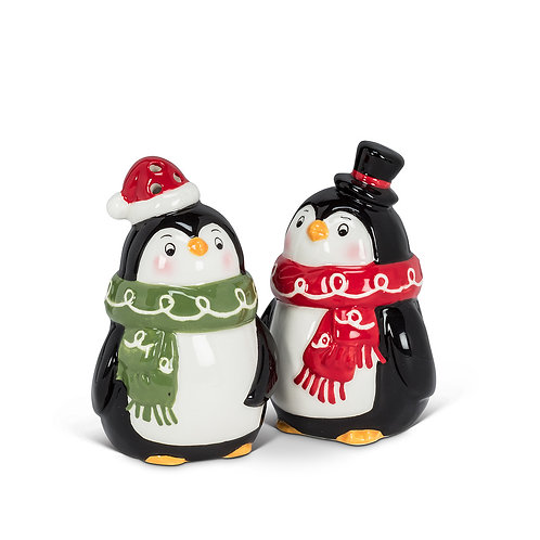 Salt & Pepper set - Penguins with hat