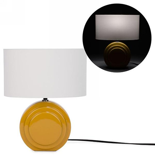 Oval lamp - mustard base