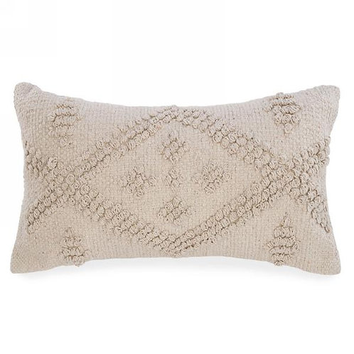 Pillow - beige looped diamond motif