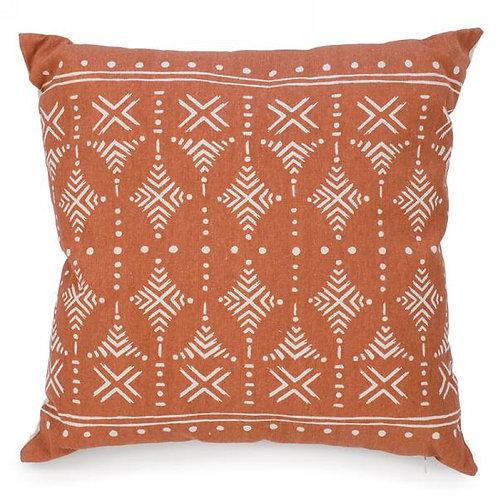 "Pillow - terracotta printed  16""x16"""