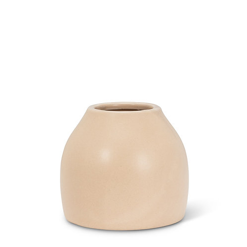 Matte vase - small, Sand