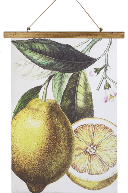 Lemon rolled wall canvas