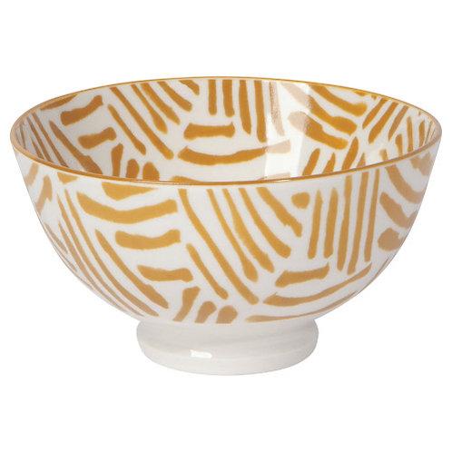 Bowl - Ochre lines