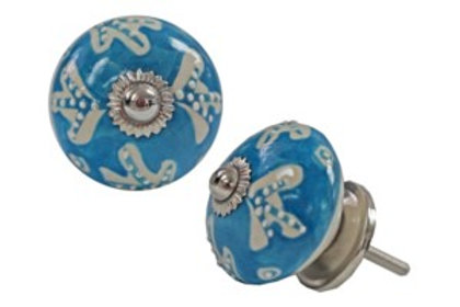 Drawerknob - Oceanic Blue Ceramic