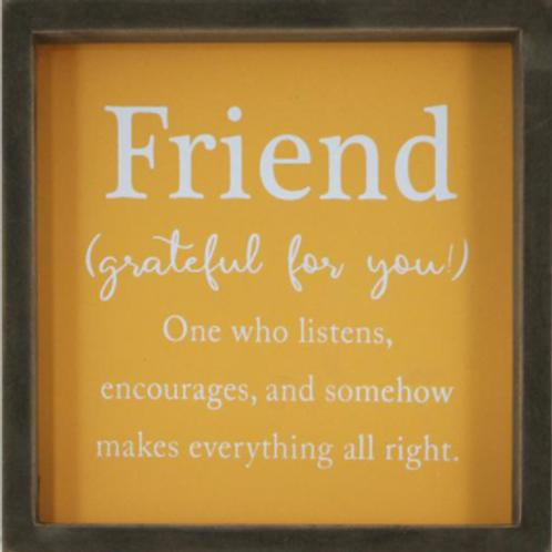 "Sign ""Friend...."""