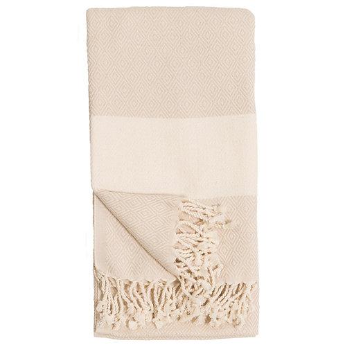 Turkish Towel - Diamond - Cream