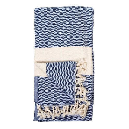 Turkish Towel - Diamond - Navy