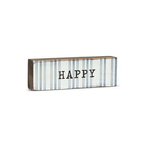 """""""HAPPY"""" sign"""
