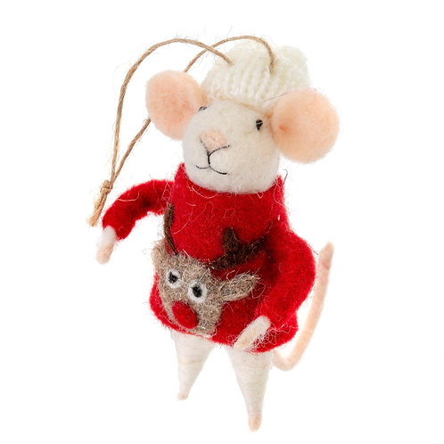 Mouse ornament - Ugly Sweater Steve