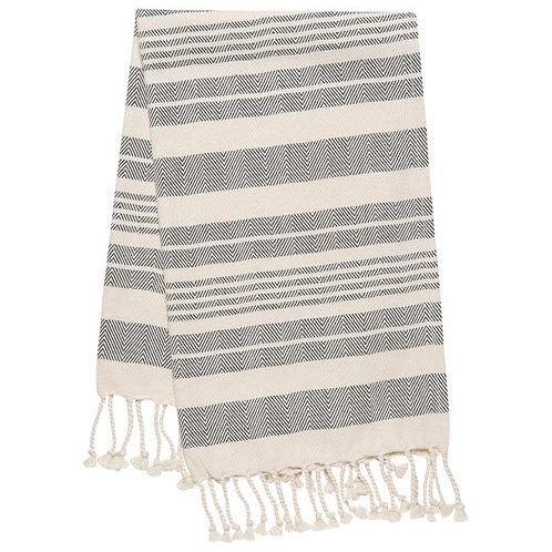Hammam Hand Towel - black stripe