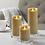 Thumbnail: Wax LED Mottled Pillar candle - large
