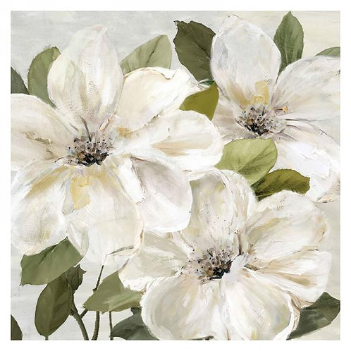 Canvas Art - 3 white flowers