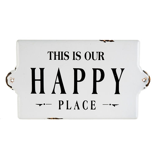 'This is our Happy Place' LARGE sign