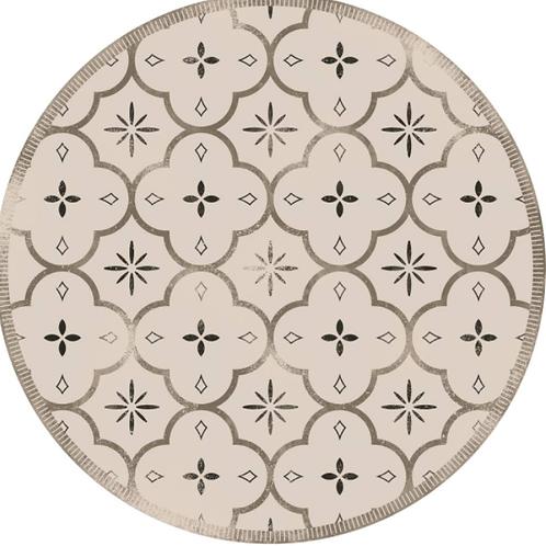 Vinyl floor mat  3.25' round   101-169