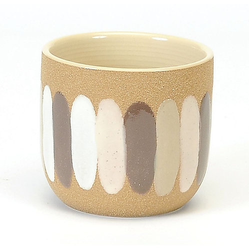 Plant pot with brush strokes  LARGE