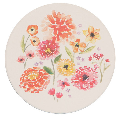 Coaster set (4) Cottage Floral