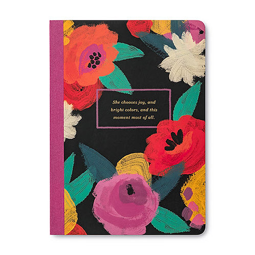 """Journal """"She chooses joy, and bright colors..."""""""