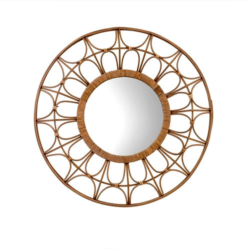 "Mirror - Nomad Bamboo  32.7""W"