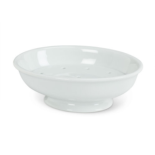 2 piece white porcelain soap dish